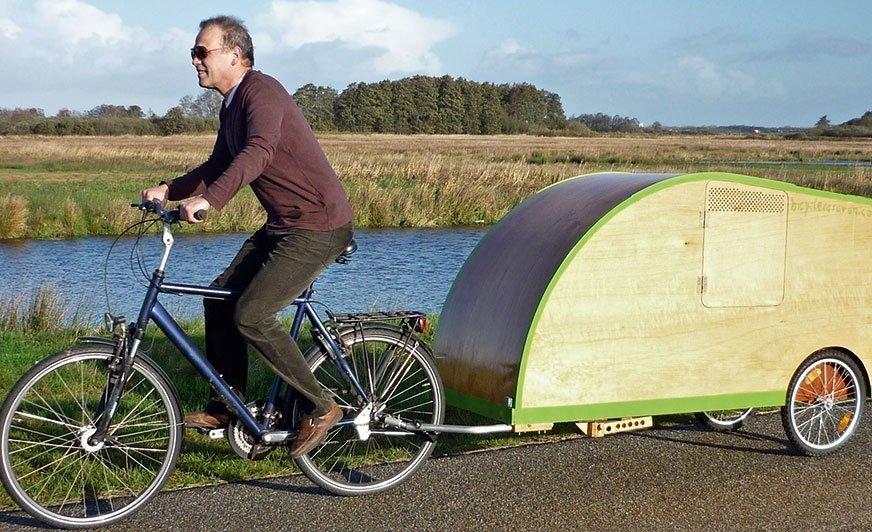 Holenderska propozycja dla miłośników rowerowego caravaningu.