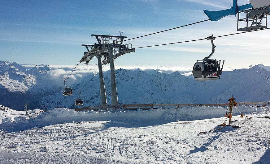 Kamperem na narty. Sölden w Tyrolu zaprasza