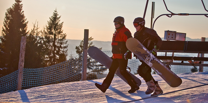 Zimowy caravaning: stacja narciarska Dwie Doliny Muszyna