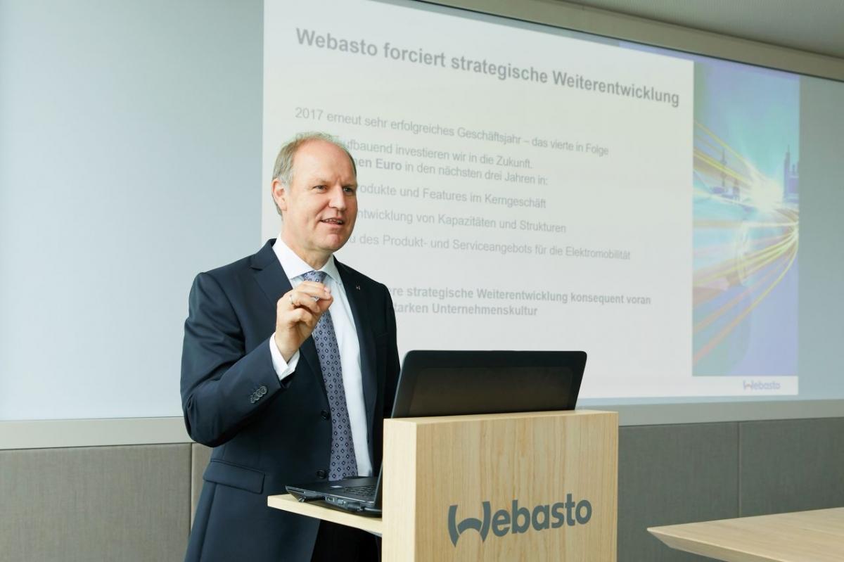 Webasto zwiększa przychody i przyspiesza