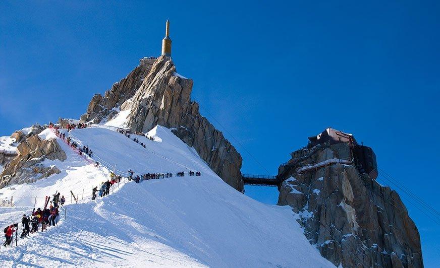 Aiguille du Midi - jedna z tras narciarskich w regionie Chamonix