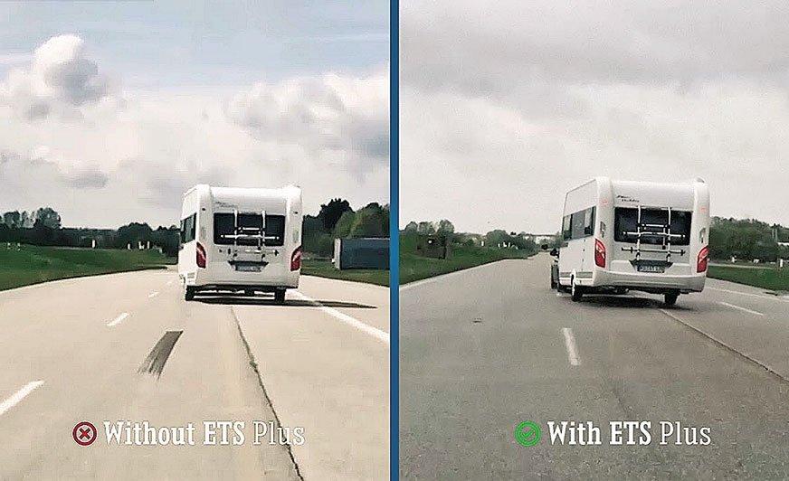 System stabilizacji toru jazdy przyczepy – ETS Plus ogranicza wężykowanie, bujanie się, odrywanie kół... – po prostu zwiększa bezpieczeństwo jazdy w zestawie