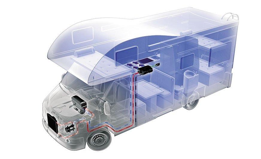 Jak zapewnić efektywną dystrybucję chłodnego powietrza na tył kampera? Przy minimalnym wpływie na dodatkowe obciążenie silnika iprzy niskich kosztach modernizacji ku uciesze pasażerów możemy rozbudować klimatyzację samochodową ododatkowy parownik