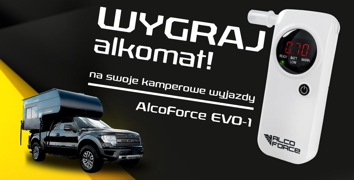 KONKURS! Wygraj profesjonalny alkomat AlcoForce EVO-1
