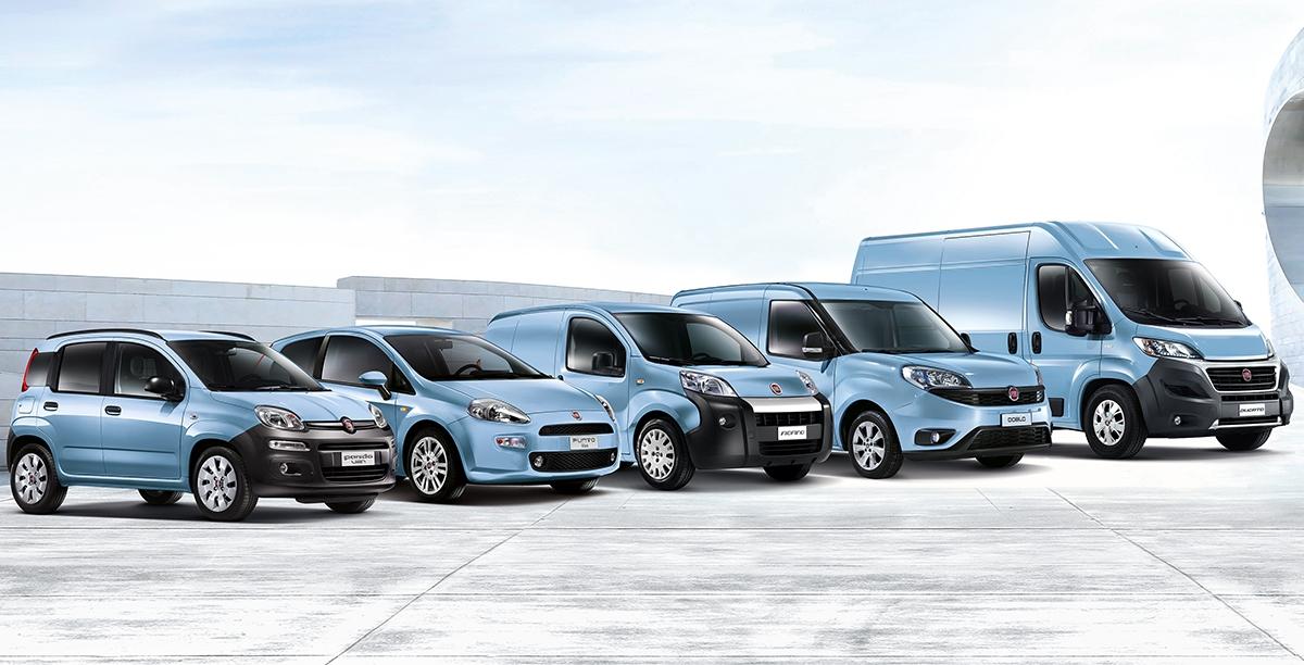 Fiat dysponuje jużflotąsamochodów zasilanych m.in. gazem CNG.Gama nazywa się