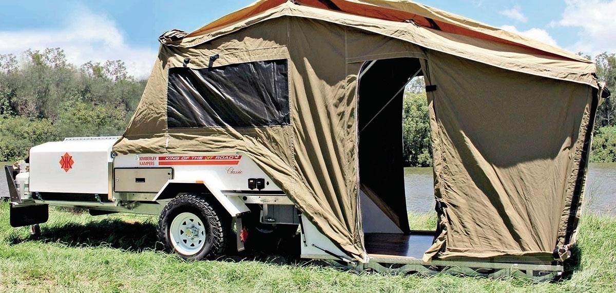 Kimberley Kamper Platinum wswojej najpopularniejszej, namiotowej wersji