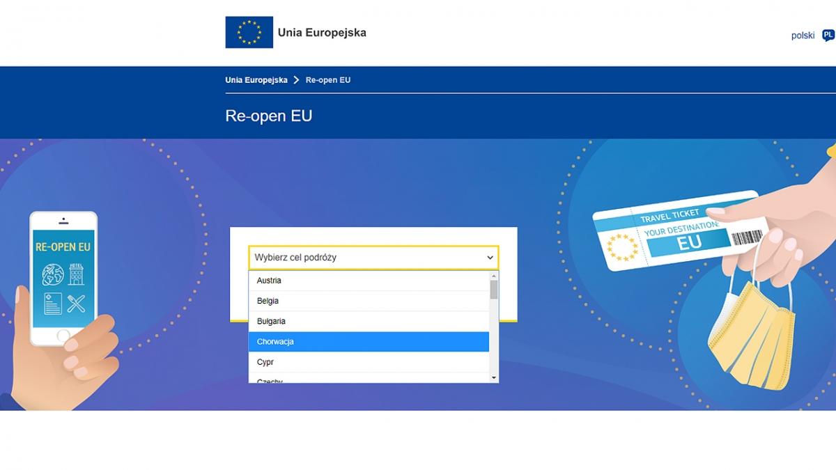 Zaplanuj podróż z Re-open EU