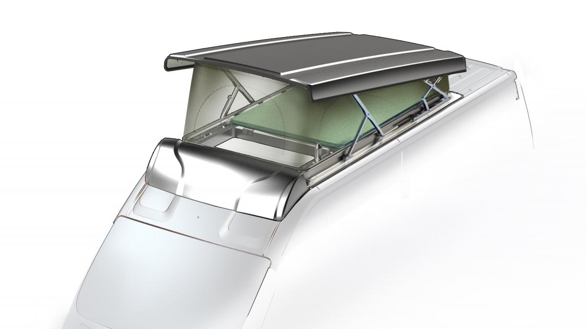 Podnoszony dach sypialny od Lippert Components
