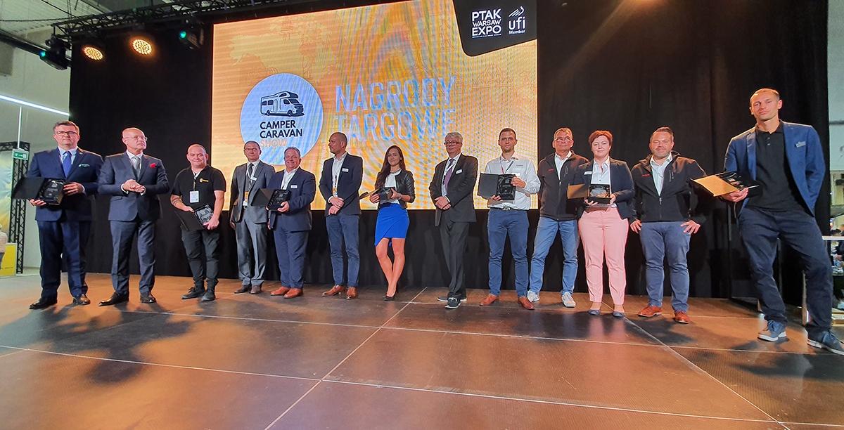 Rozdanie nagród targowych dla firm z branży caravaningowej podczas ubiegłorocznej edycji Camper&Caravan Show 2019