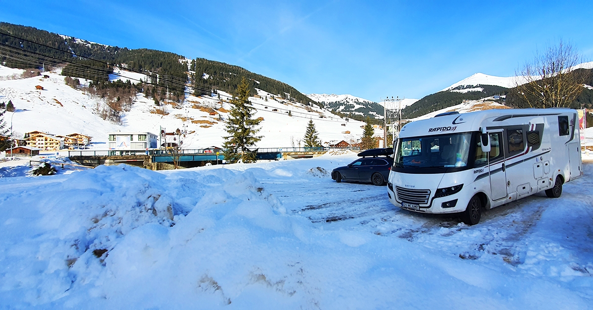 Styczeń 2020, wyjazd kamperem do Austrii w poszukiwaniu śniegu