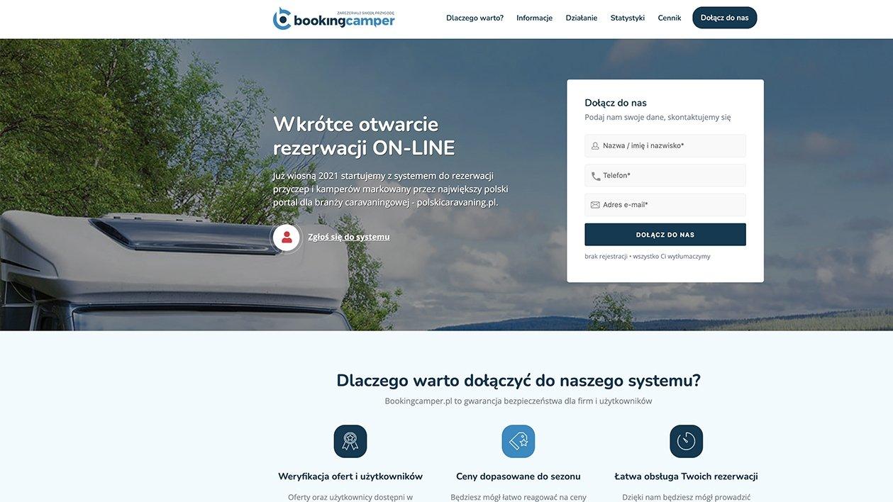 BookingCamper.pl - wszystkie wypożyczalnie w jednym miejscu!