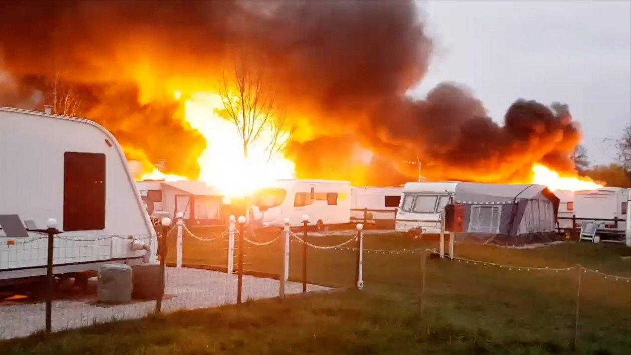 W marcu 2019 w wyniku pożaru doszczętnie spłonęło 40 przyczep a kolejne 40 zostało uszkodzonych