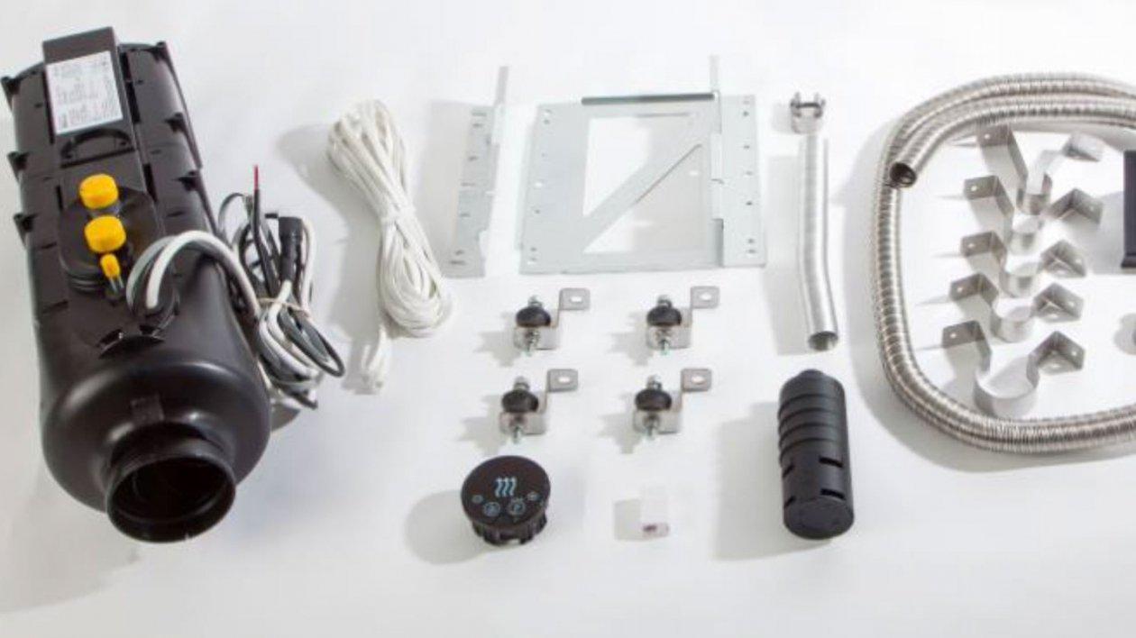Ogrzewanie Heat Air 3 GT skompletowane z akcesoriami do montażu pod podłogą pojazdu kempingowego