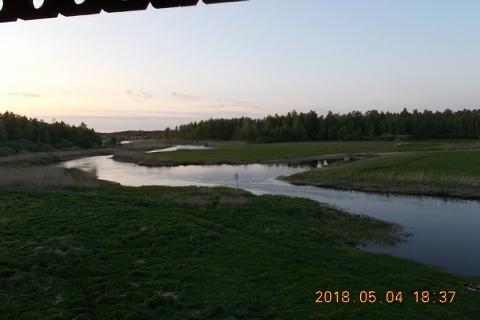 Punkt widokowy Biebrzańskiego Parku Narodowego nad rzeką Biebrz