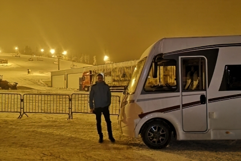 Parking przy kasach wyciągowych - Białka Tatrzańska