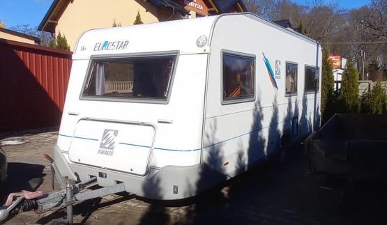 Przyczepa Kempingowa Knaus Eurostar Markiza Napęd Pokrowiec